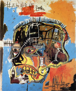 Jean-Michel 1984, acrylic + mixed media