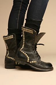 Free People - Studded vintage combat boot