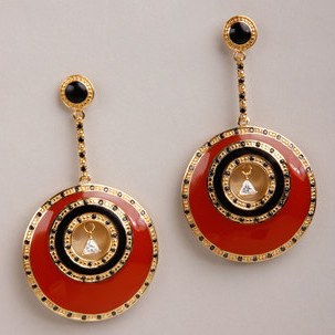 Two tone resin earrings