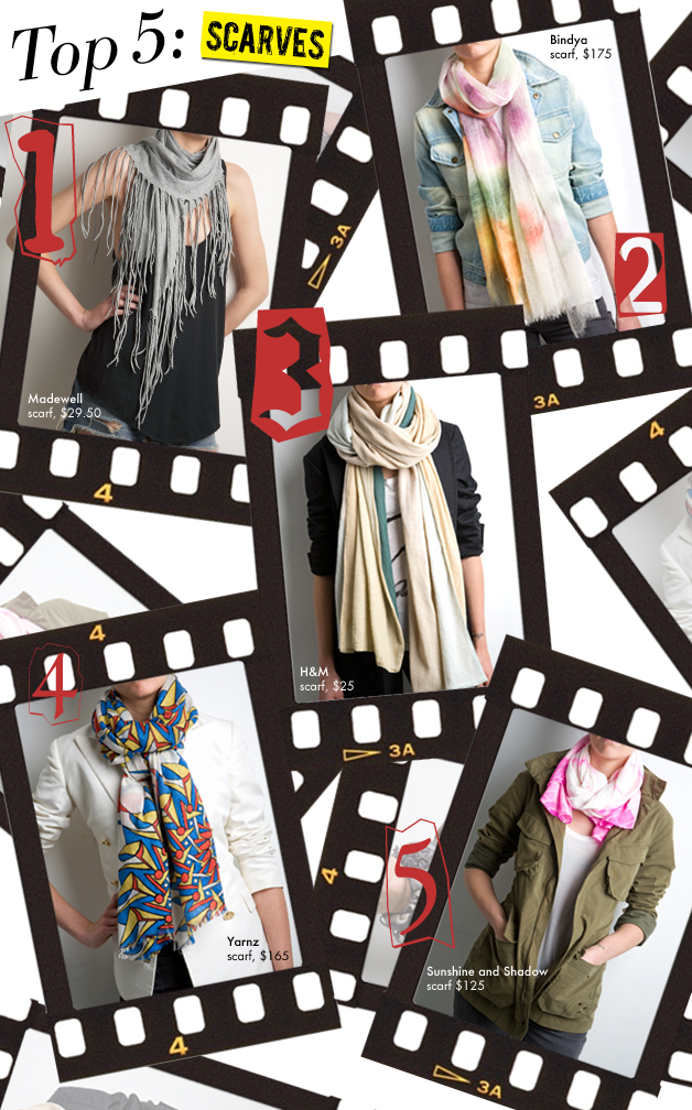 Who What Wear top scarves.