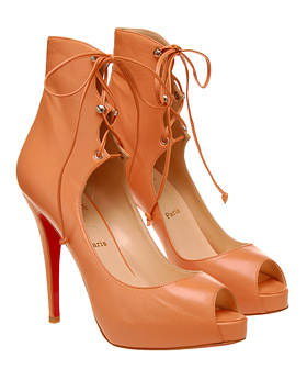 Christian Louboutin Leather tie up shoes