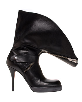 Rick Owens Fold over buckle boot