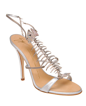 Giuseppe Zanotti Design Strappy High Heel with Fish Skeleton