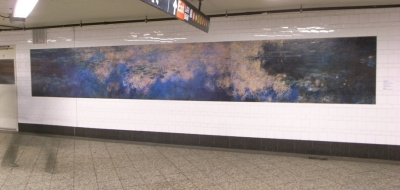 Monet, Water lilies at the Atlantic Ave Station in Brooklyn.