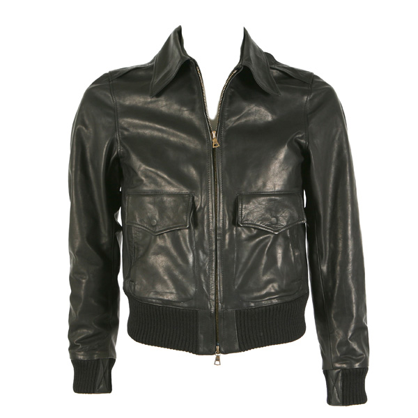 Men's leather jacket by Black Block, the brand created by french Artist André.
