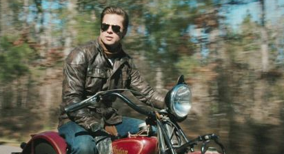 Curious Case of Benjamin Button, wearing Belstaff