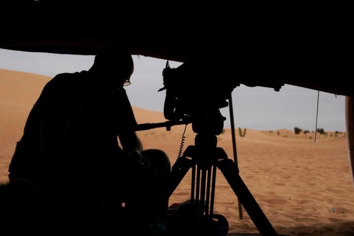 Shooting in Mauritania.