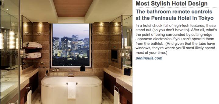 Peninsula Hotel in Tokyo
