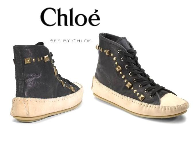See by Chloe Studded High Top Mocs.