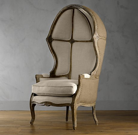 Versailles Domed Burlap-Backed Chair.