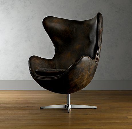 1950s Leather Copenhagen Chair.