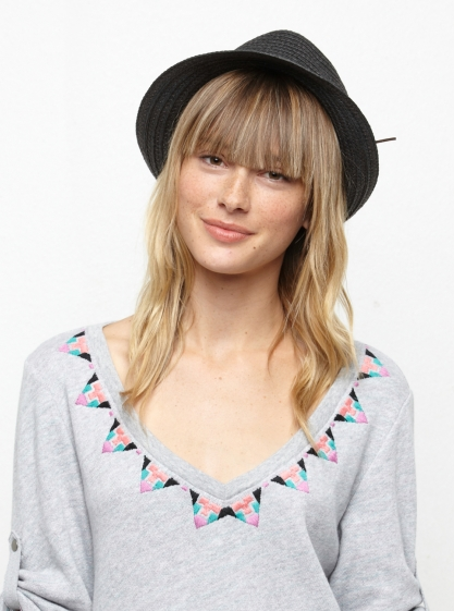 Roxy - Townie Straw Fashion Hat.