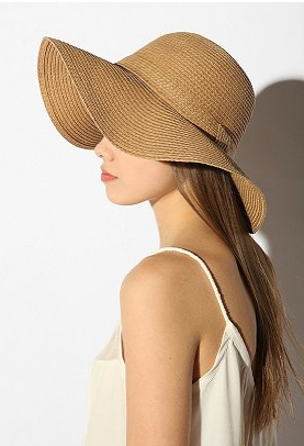 Urban Outfitters - Pins and Needles Basic Straw Floppy Hat.