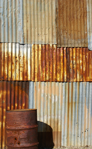 Rusted Corrugated Metal.