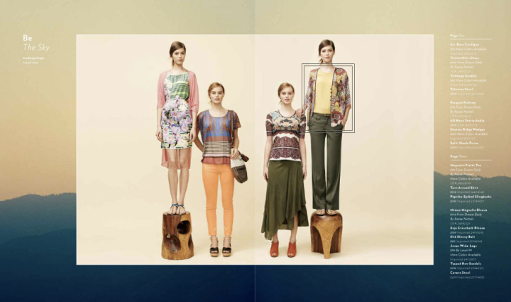 Anthropologie, March 2012.