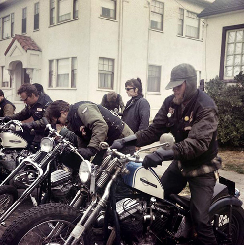 Image credit: Hunter S. Thompson. Hell's Angels, Start Up, California c. 1960s. Courtesy M+B Art