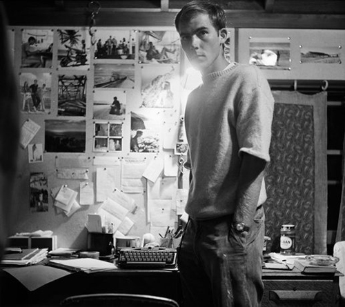 Image credit: Hunter S. Thompson. Self Portrait, with Bulletin Board c. 1960s. Courtesy M+B Art