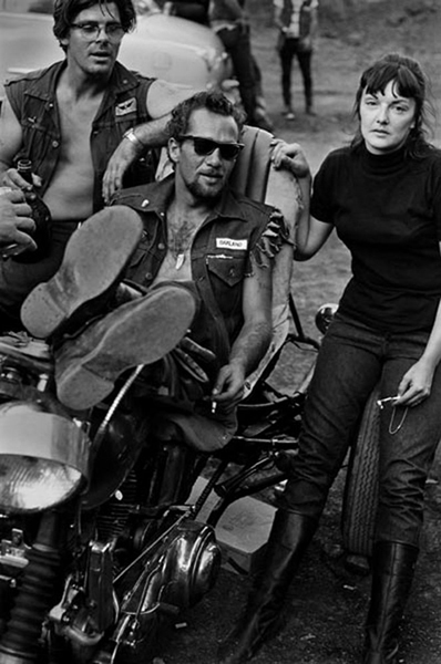 Image credit: Hunter S. Thompson. Hell's Angels, Sonny and Girl with Pipe c. 1960s. Courtesy M+B Art