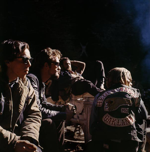 Image credit: Hunter S. Thompson. Hell's Angels, Group c.1960s. Courtesy M+B Art