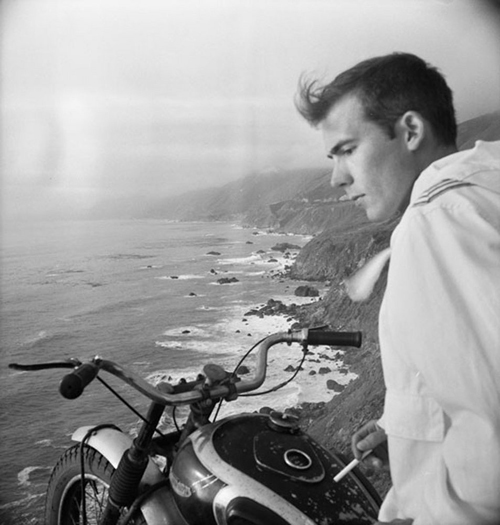 Image credit: Hunter S. Thompson. Self Portrait, Big Sur on Motorcycle  c. 1960s. Courtesy M+B Art